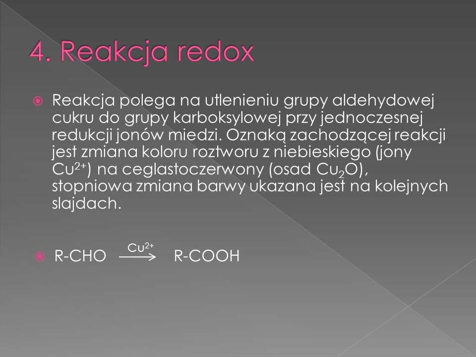 4. Reakcja redox