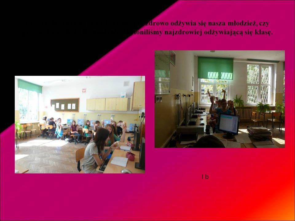 Przez cały tydzień sprawdzaliśmy jak zdrowo odżywia się nasza młodzież, czy przynosi do szkoły II śniadanie. Wyłoniliśmy najzdrowiej odżywiającą się klasę.