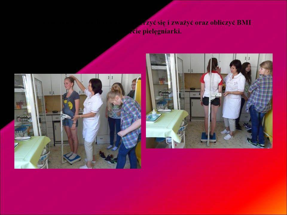 Nasi uczniowie mogli również zmierzyć się i zważyć oraz obliczyć BMI w gabinecie pielęgniarki.