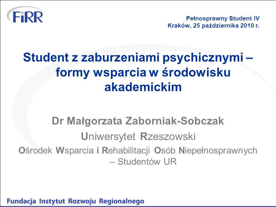 Pełnosprawny Student IV Kraków, 25 października 2010 r.