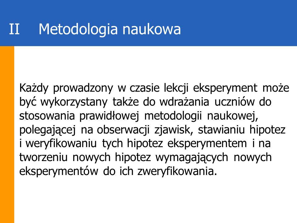 II Metodologia naukowa