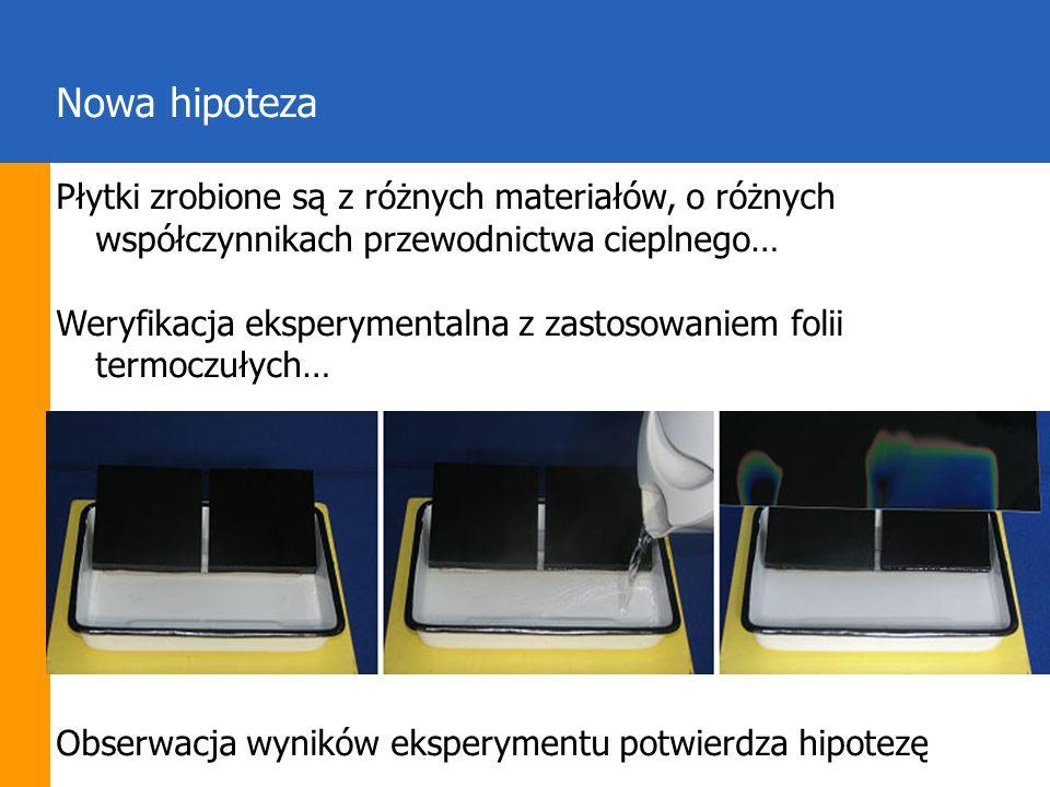 Nowa hipotezaPłytki zrobione są z różnych materiałów, o różnych współczynnikach przewodnictwa cieplnego…