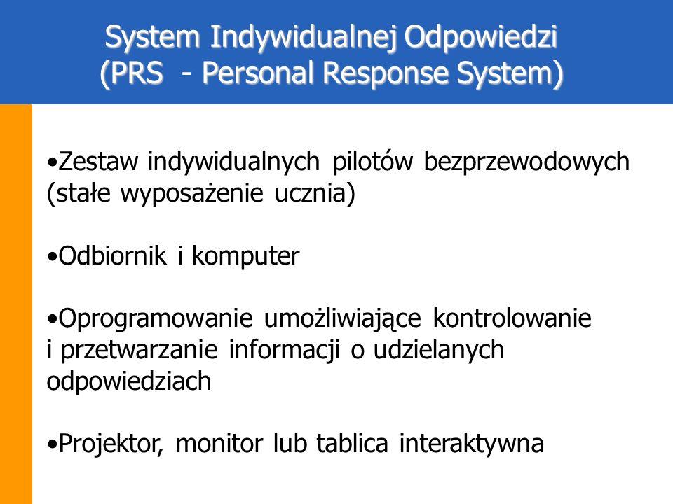 System Indywidualnej Odpowiedzi (PRS - Personal Response System)