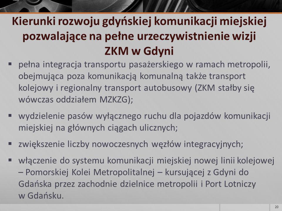 Kierunki rozwoju gdyńskiej komunikacji miejskiej pozwalające na pełne urzeczywistnienie wizji ZKM w Gdyni