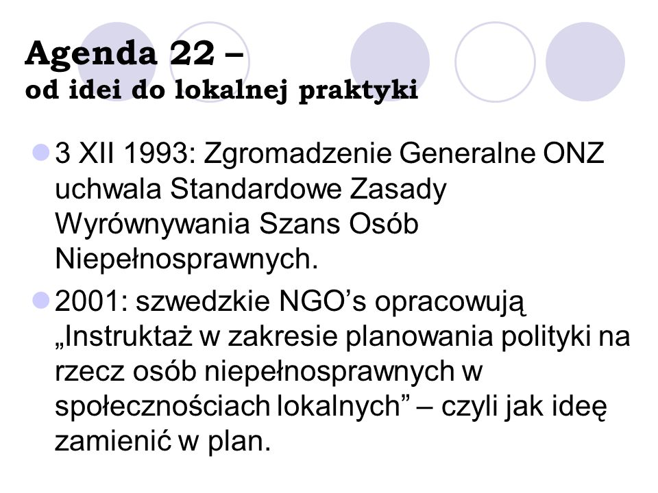 Agenda 22 – od idei do lokalnej praktyki