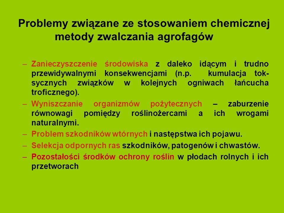 Problemy związane ze stosowaniem chemicznej