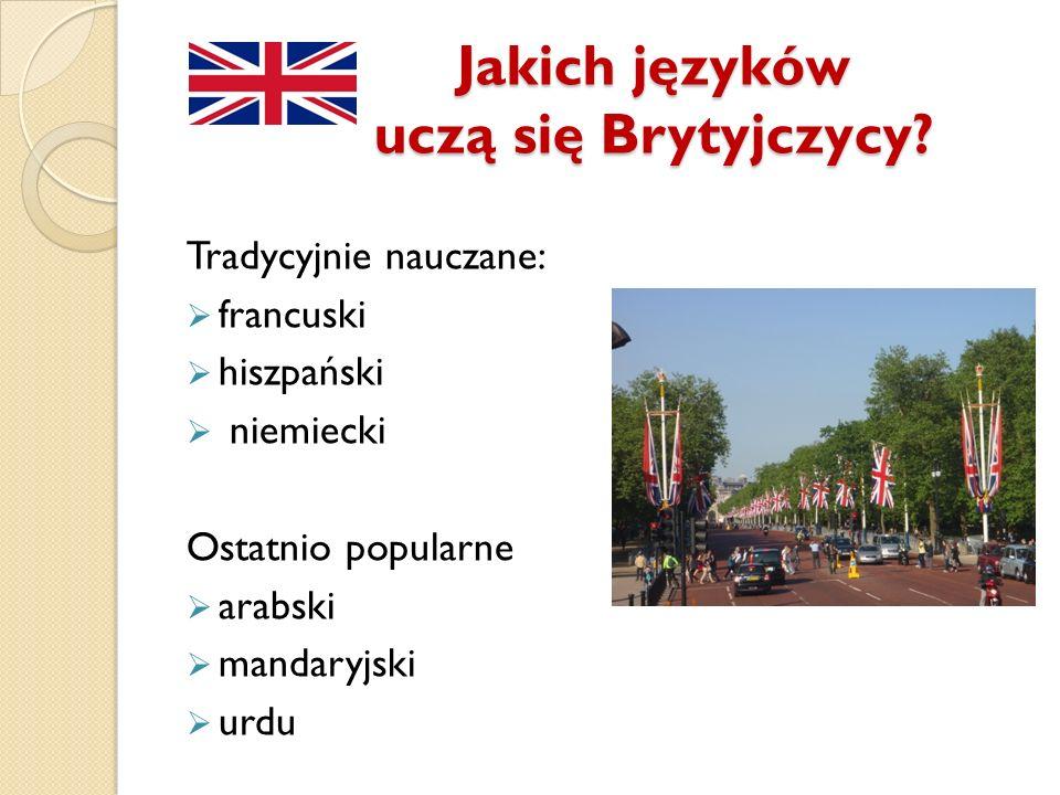 Jakich języków uczą się Brytyjczycy