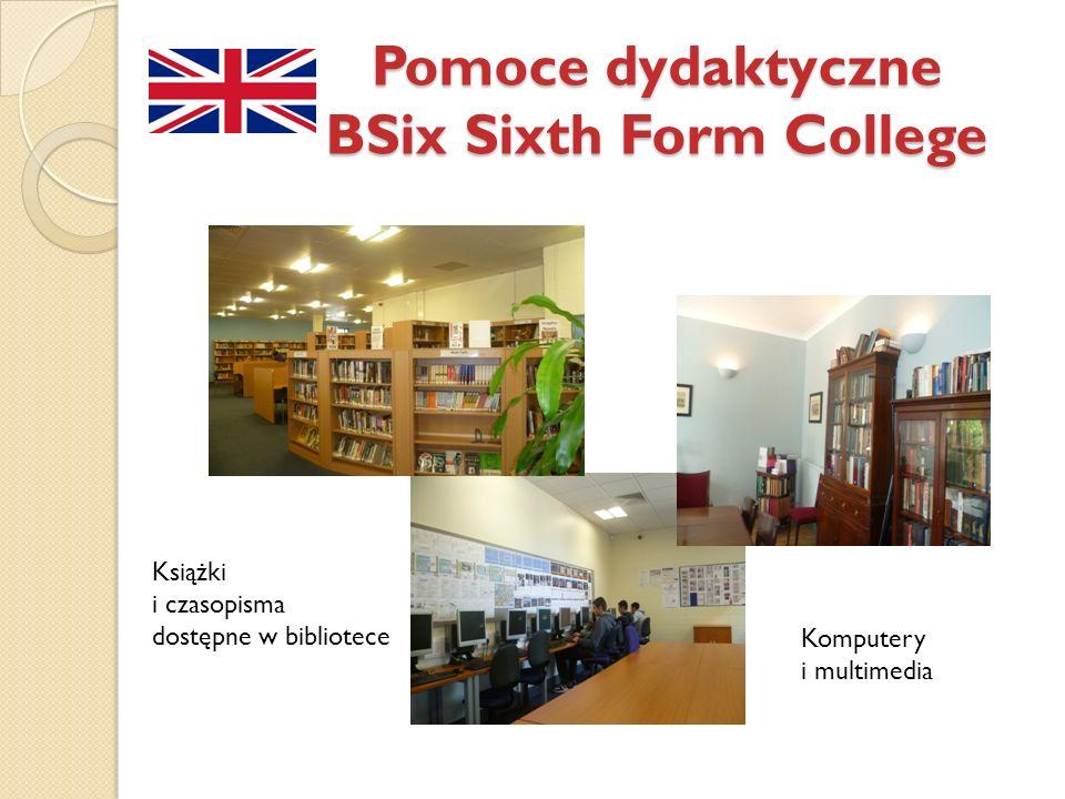 Pomoce dydaktyczne BSix Sixth Form College