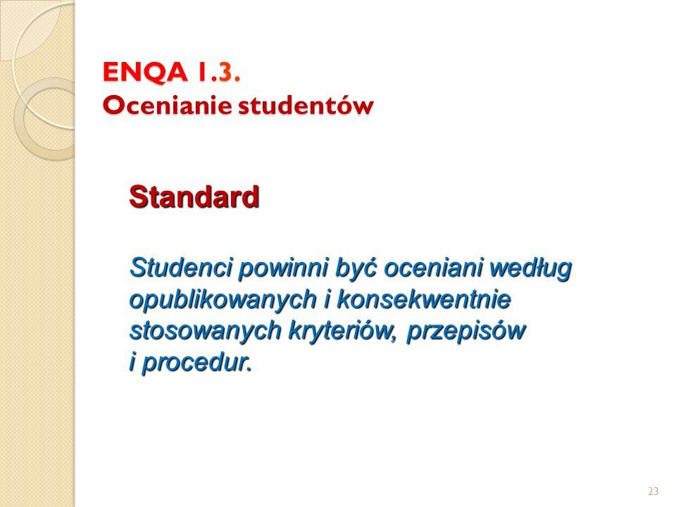 ENQA 1.3. Ocenianie studentów
