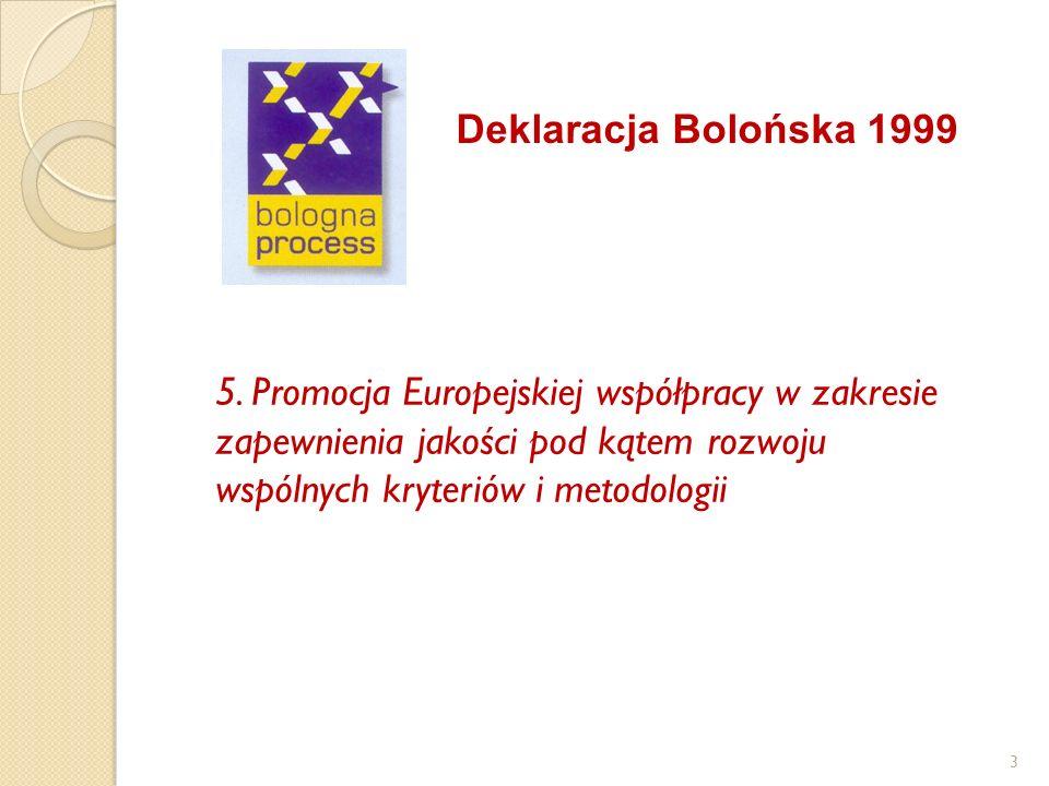 Deklaracja Bolońska 1999 5.