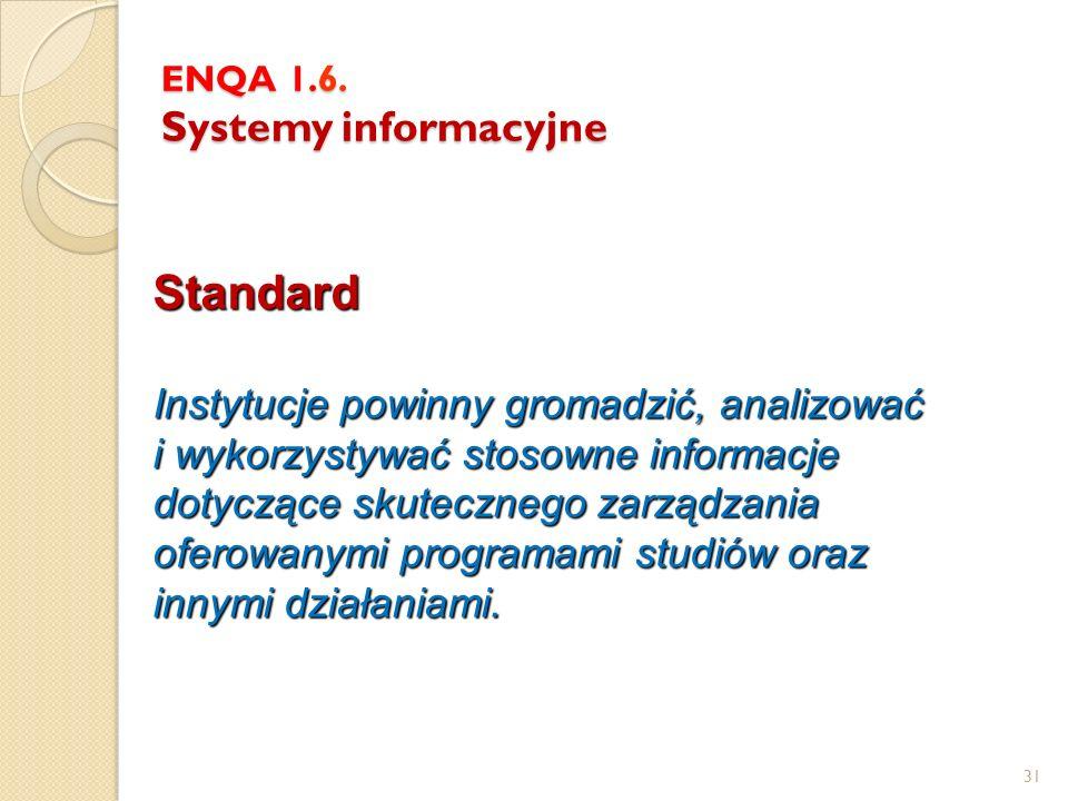 ENQA 1.6. Systemy informacyjne