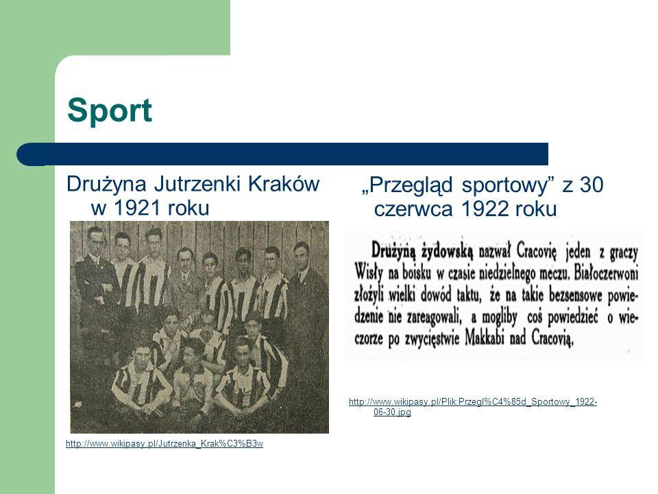 Sport Drużyna Jutrzenki Kraków w 1921 roku