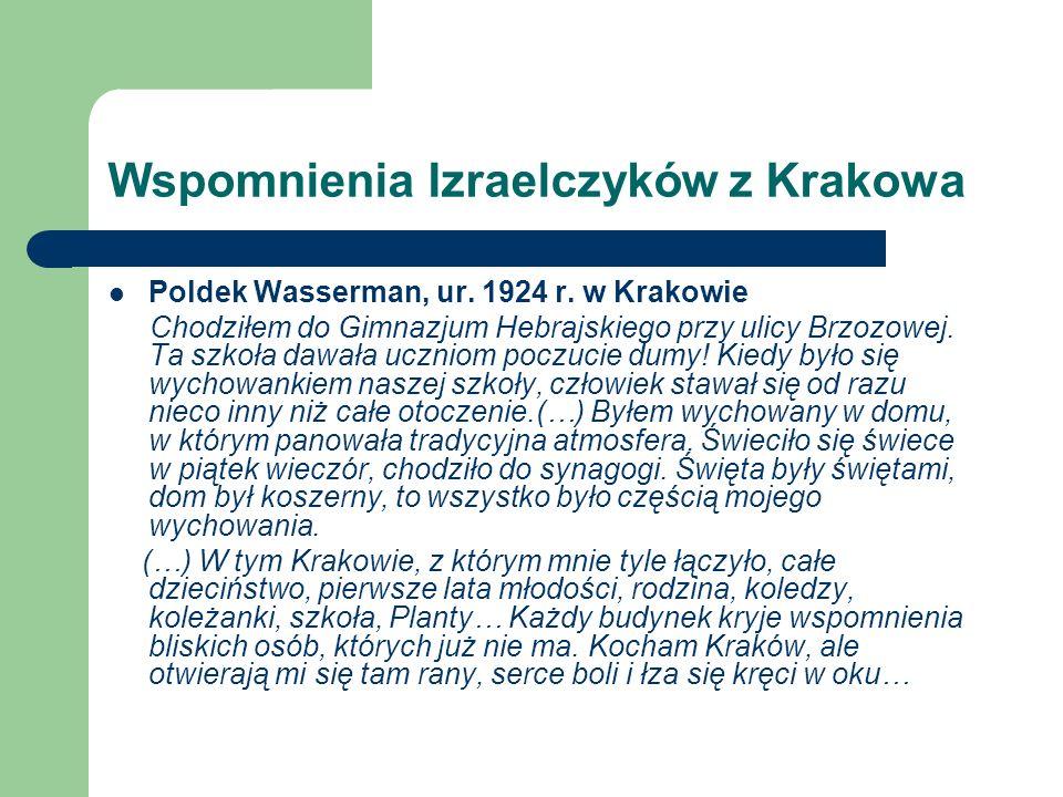 Wspomnienia Izraelczyków z Krakowa