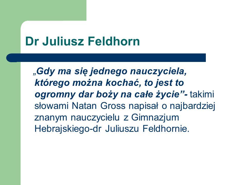 Dr Juliusz Feldhorn