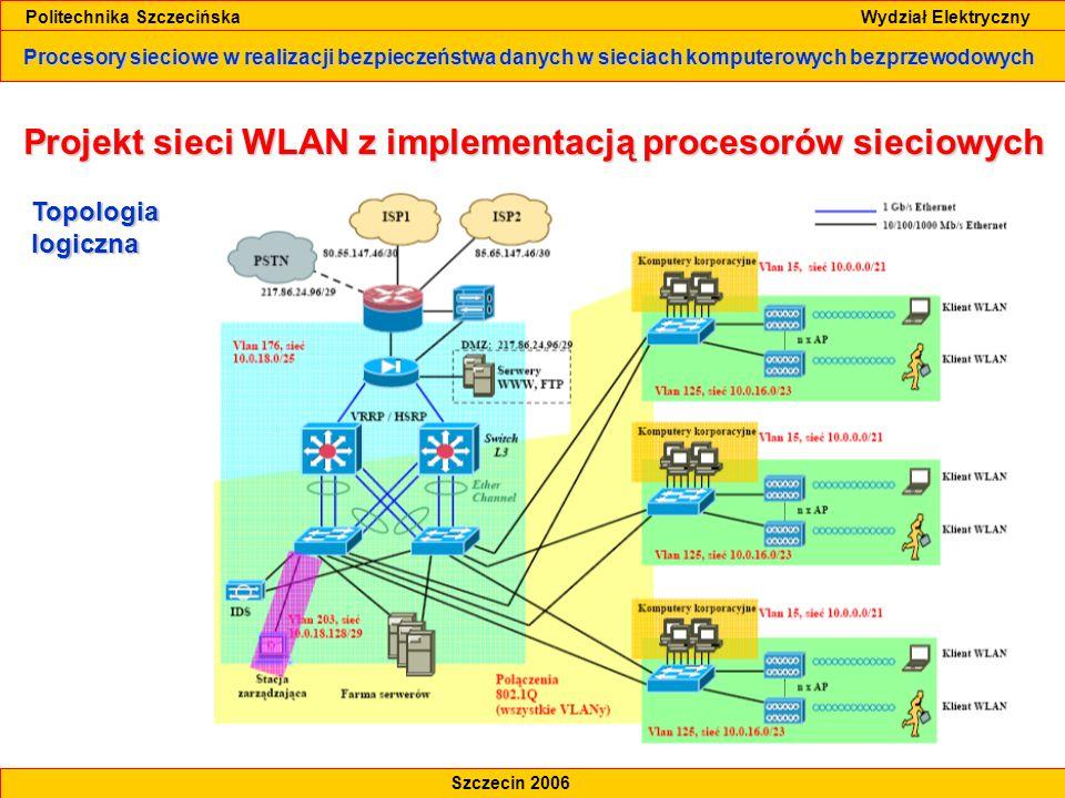 Projekt sieci WLAN z implementacją procesorów sieciowych