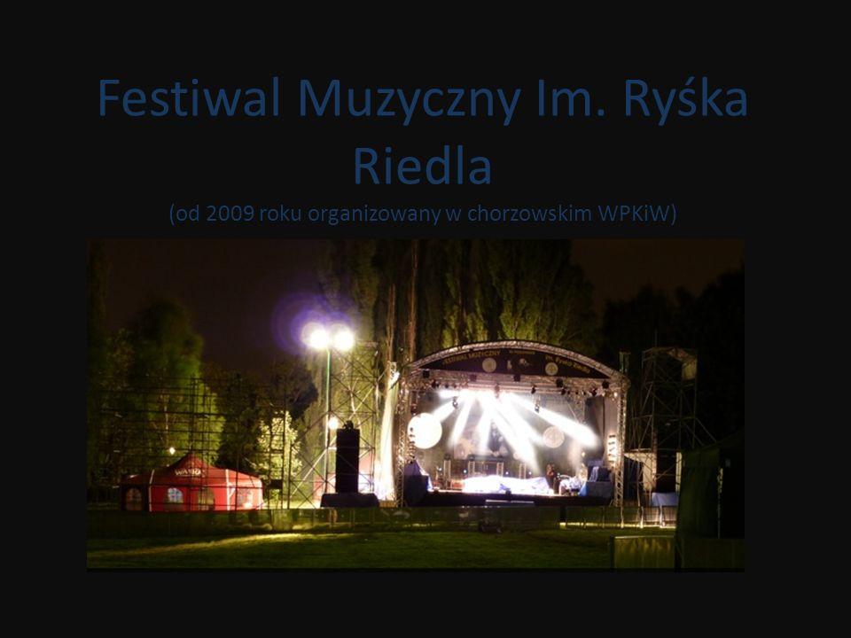 Festiwal Muzyczny Im. Ryśka Riedla (od 2009 roku organizowany w chorzowskim WPKiW)