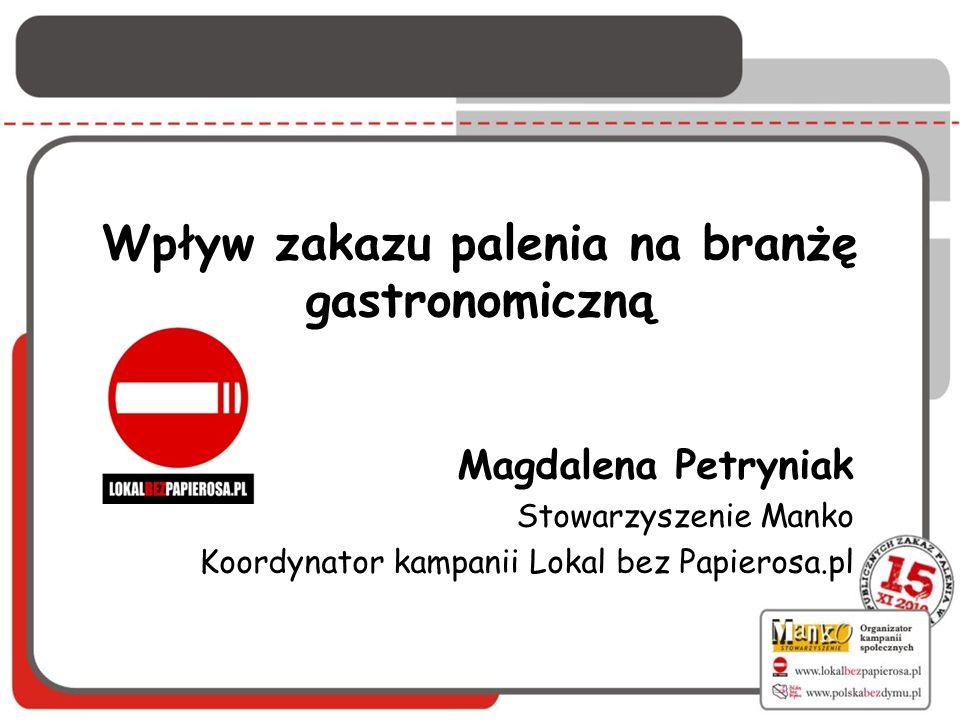 Wpływ zakazu palenia na branżę gastronomiczną
