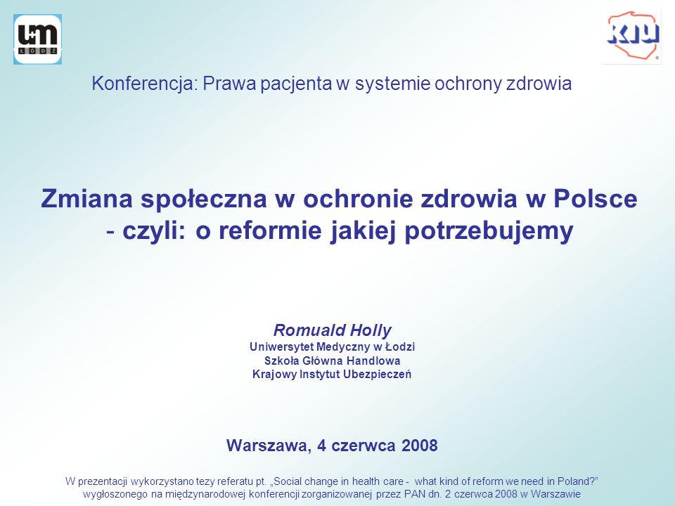 Zmiana społeczna w ochronie zdrowia w Polsce