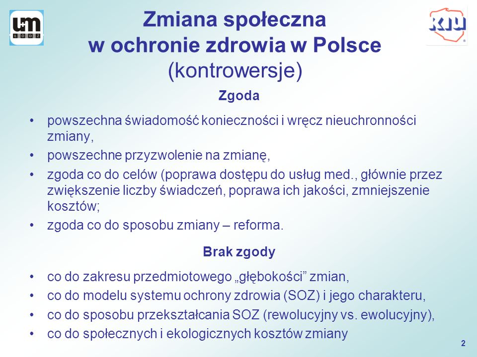 Zmiana społeczna w ochronie zdrowia w Polsce (kontrowersje)