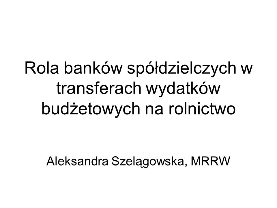 Aleksandra Szelągowska, MRRW