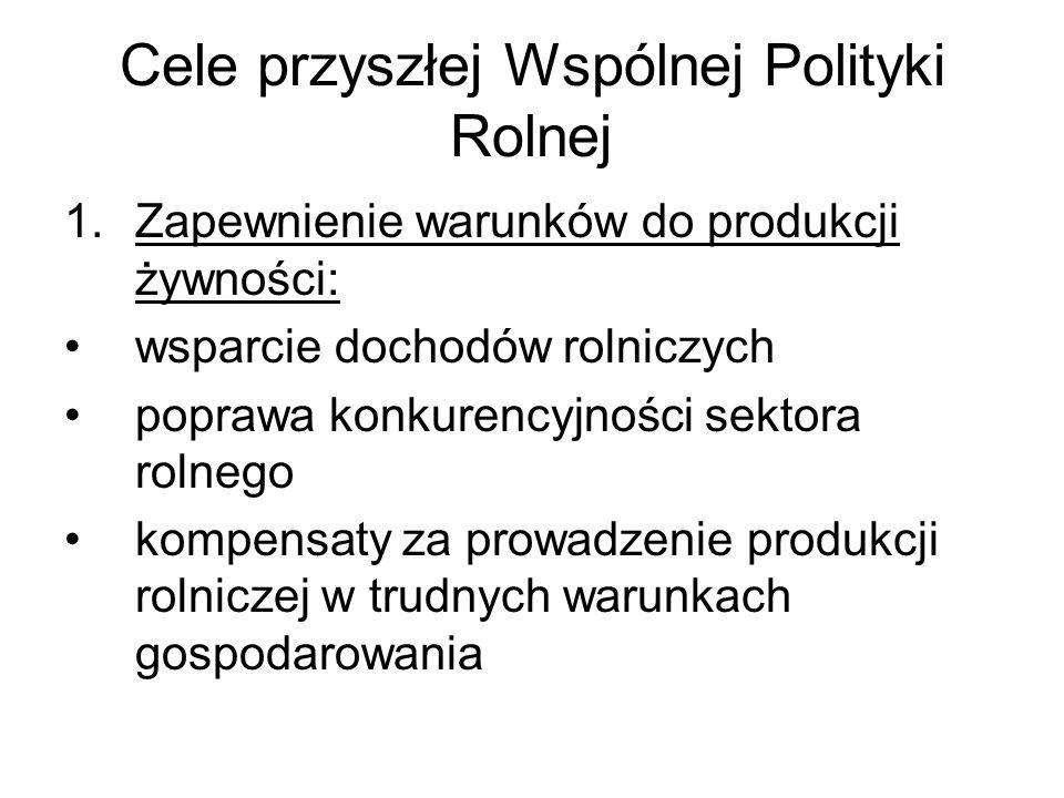 Cele przyszłej Wspólnej Polityki Rolnej