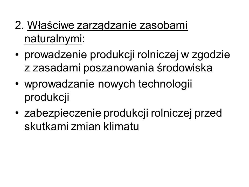 2. Właściwe zarządzanie zasobami naturalnymi: