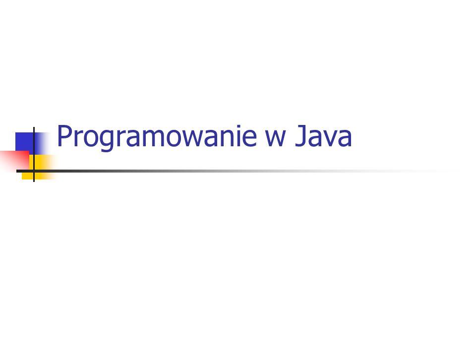 Programowanie w Java