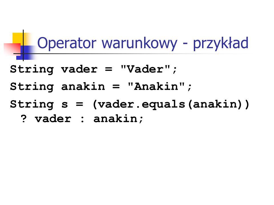 Operator warunkowy - przykład
