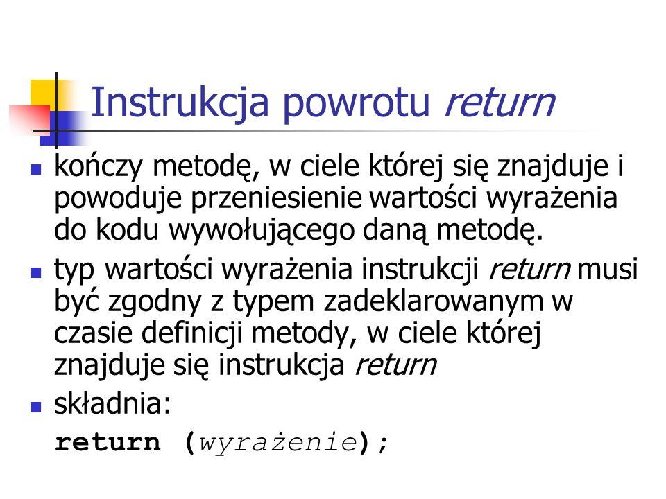 Instrukcja powrotu return