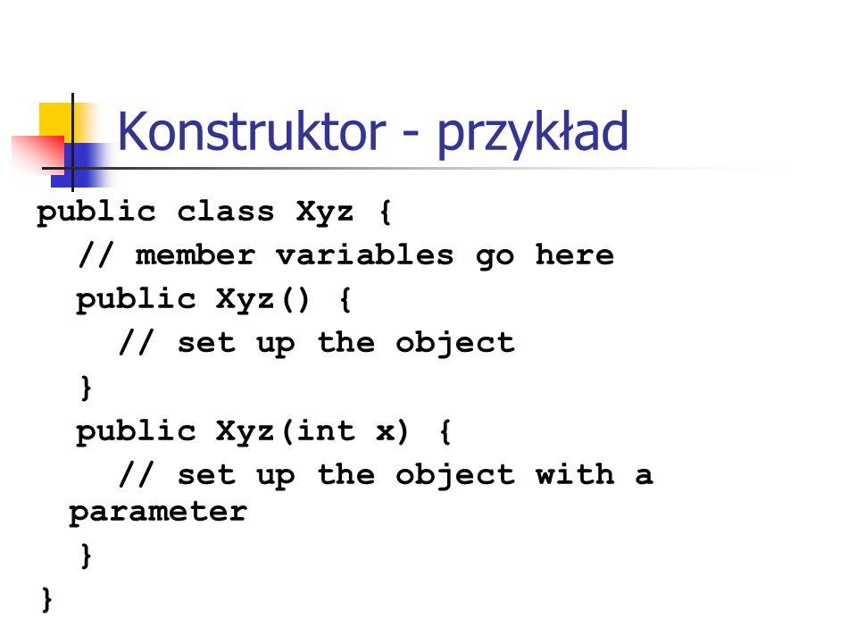 Konstruktor - przykład