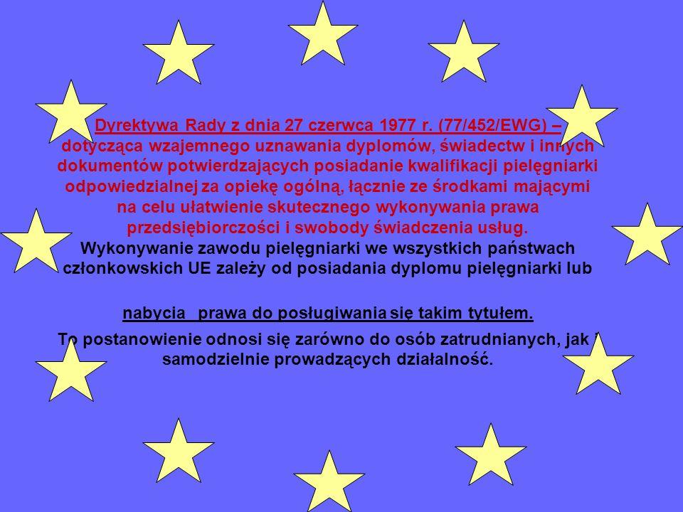 Dyrektywa Rady z dnia 27 czerwca 1977 r