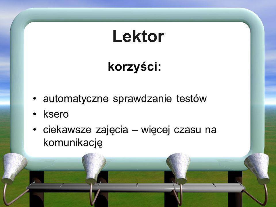 Lektor korzyści: automatyczne sprawdzanie testów ksero