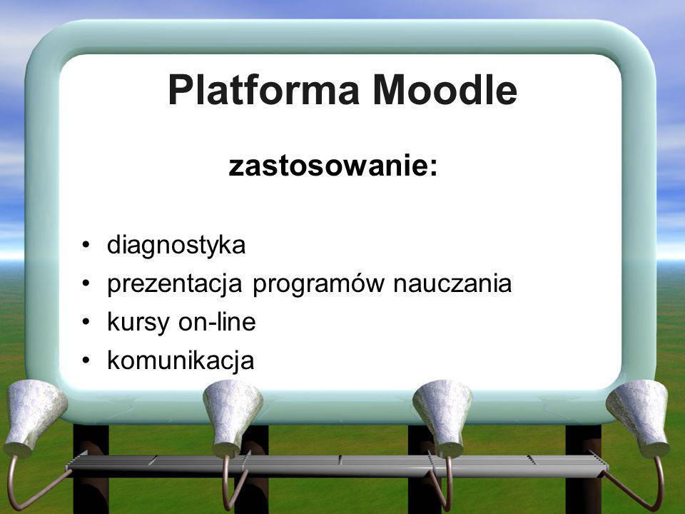 Platforma Moodle zastosowanie: diagnostyka