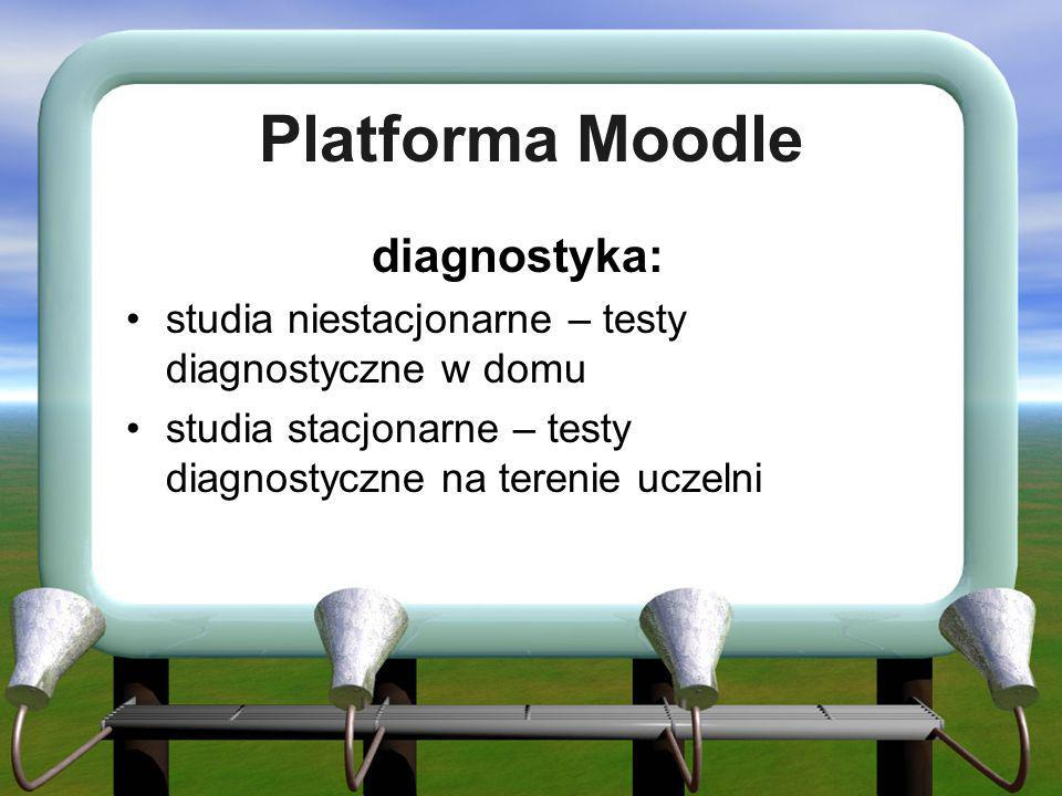 Platforma Moodle diagnostyka: