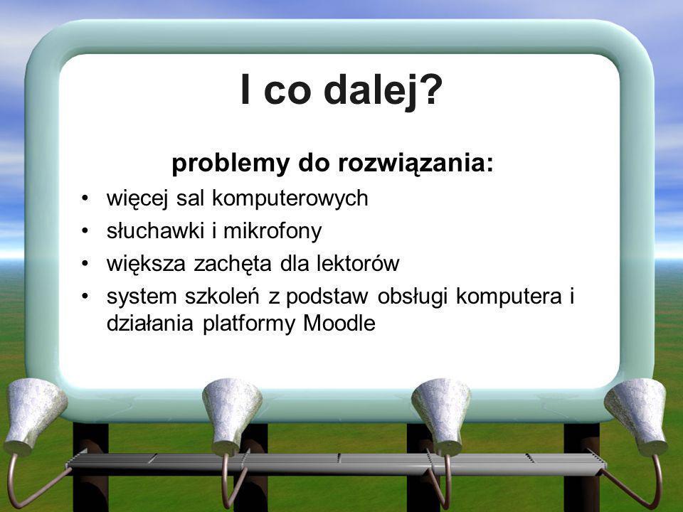 problemy do rozwiązania: