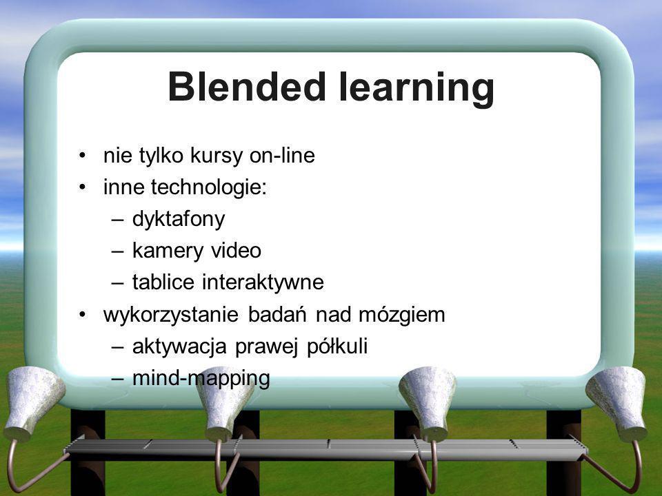 Blended learning nie tylko kursy on-line inne technologie: dyktafony