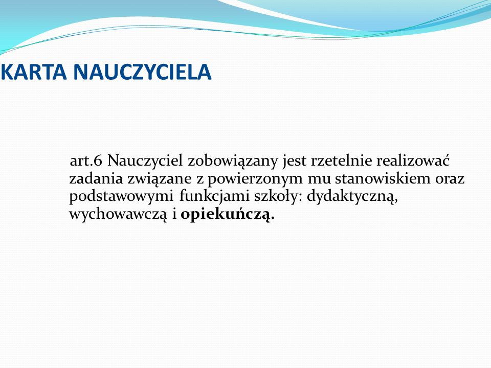 KARTA NAUCZYCIELA