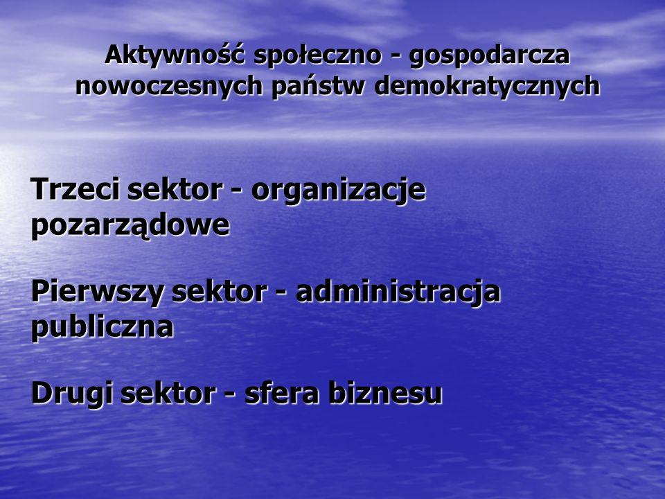 Aktywność społeczno - gospodarcza nowoczesnych państw demokratycznych