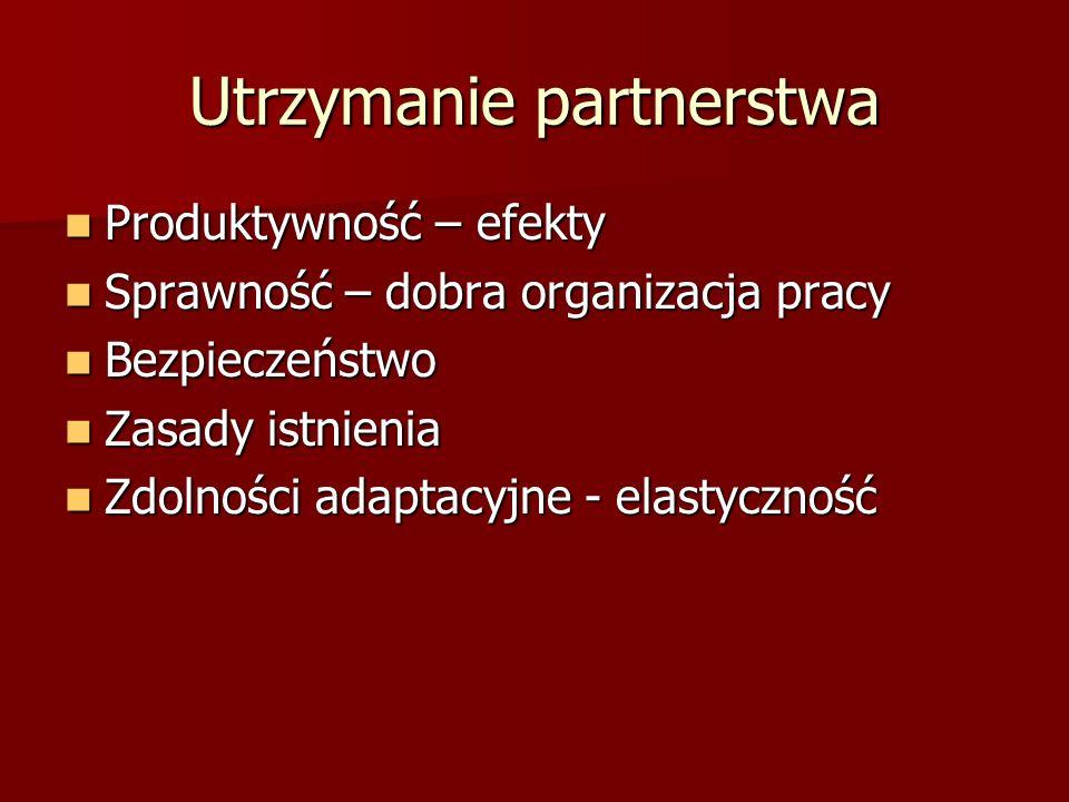 Utrzymanie partnerstwa