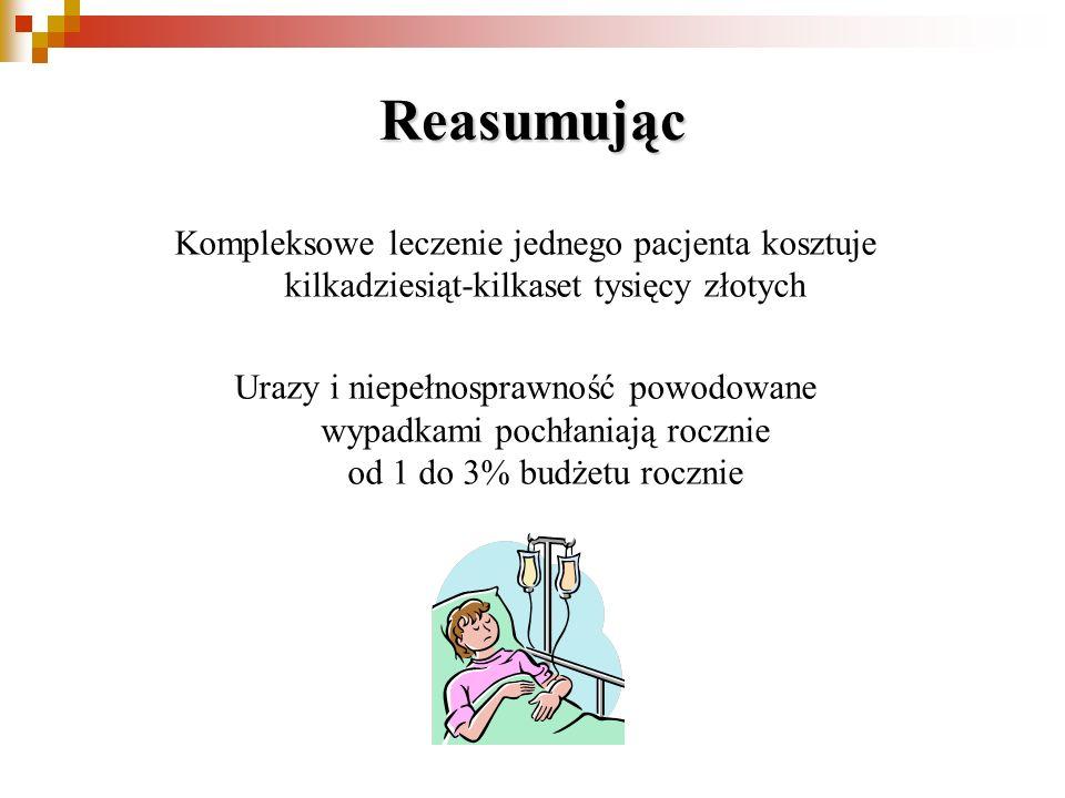 Reasumując Kompleksowe leczenie jednego pacjenta kosztuje kilkadziesiąt-kilkaset tysięcy złotych.
