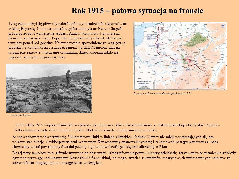 Rok 1915 – patowa sytuacja na froncie