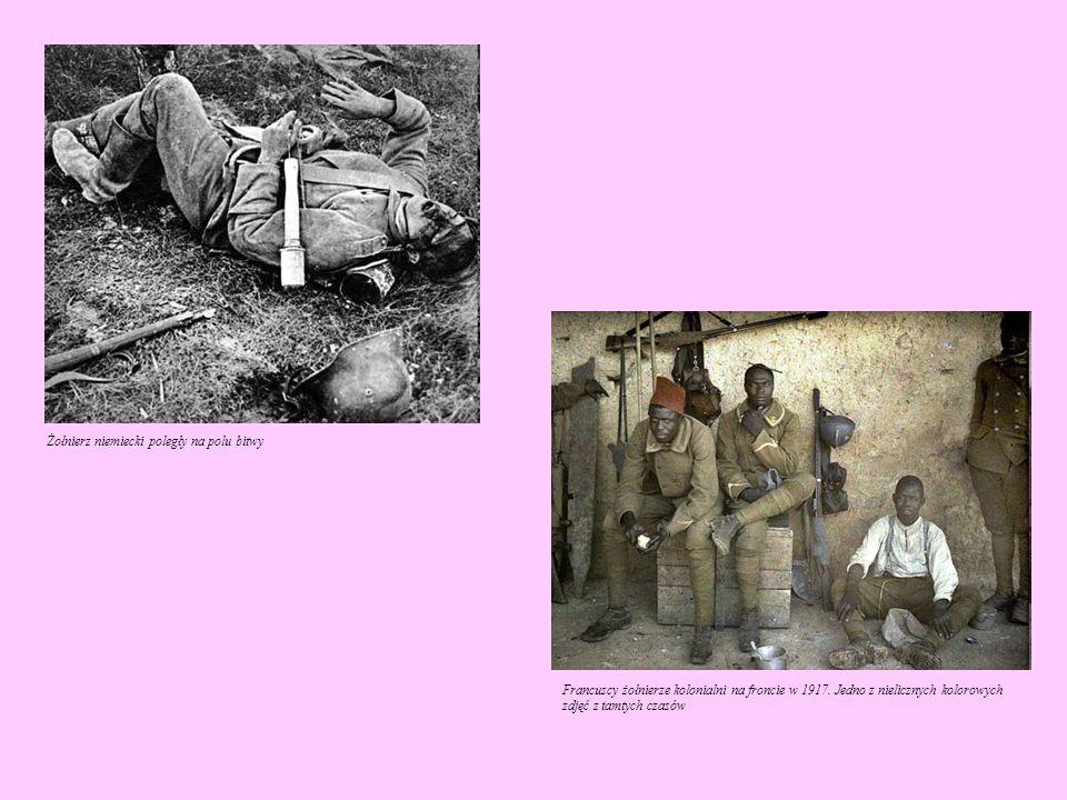 Żołnierz niemiecki poległy na polu bitwy