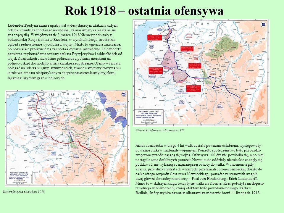 Rok 1918 – ostatnia ofensywa