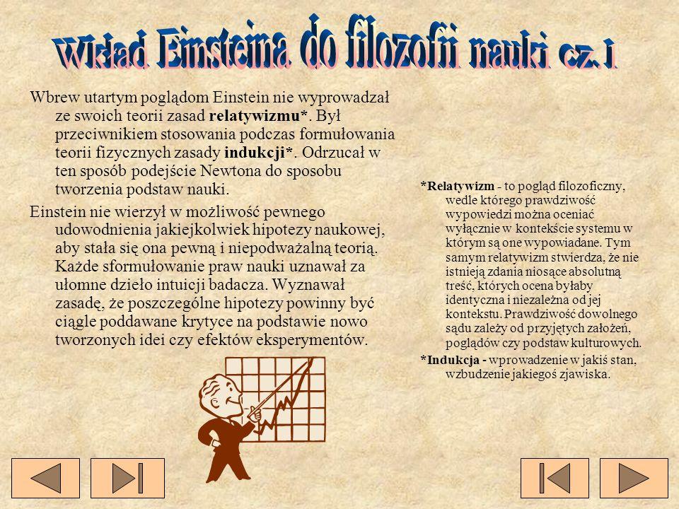 Wkład Einsteina do filozofii nauki cz.1
