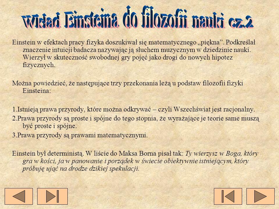 Wkład Einsteina do filozofii nauki cz.2