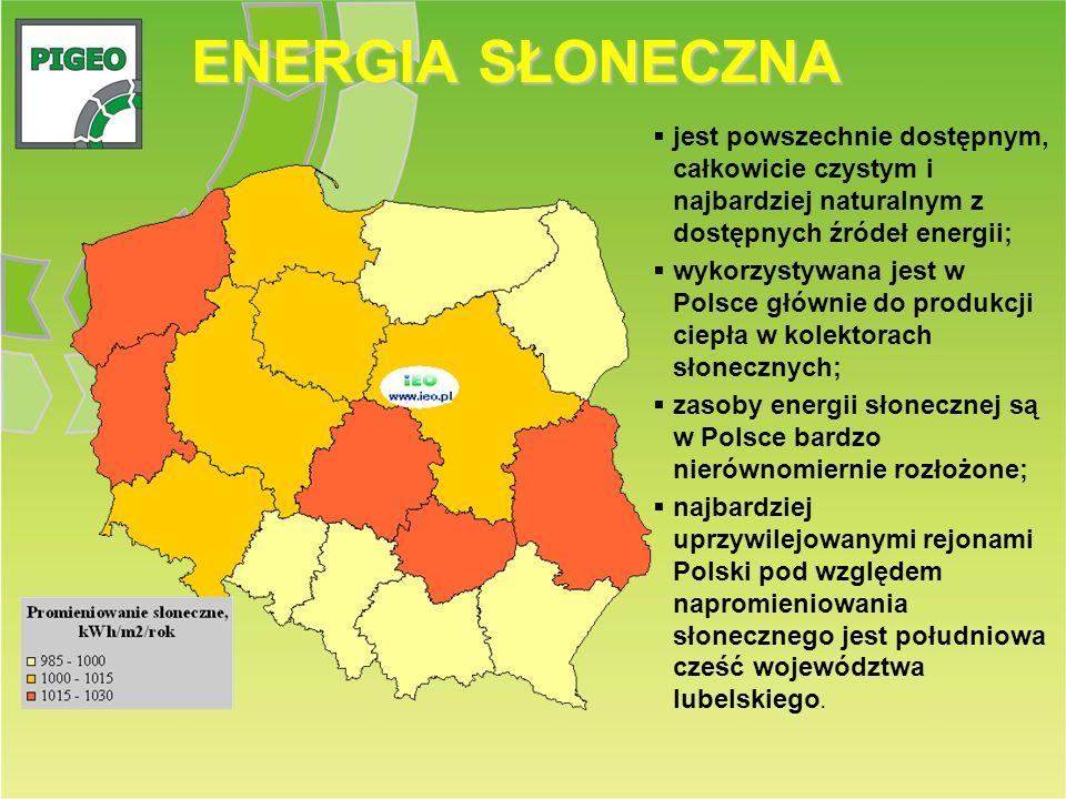 ENERGIA SŁONECZNA jest powszechnie dostępnym, całkowicie czystym i najbardziej naturalnym z dostępnych źródeł energii;