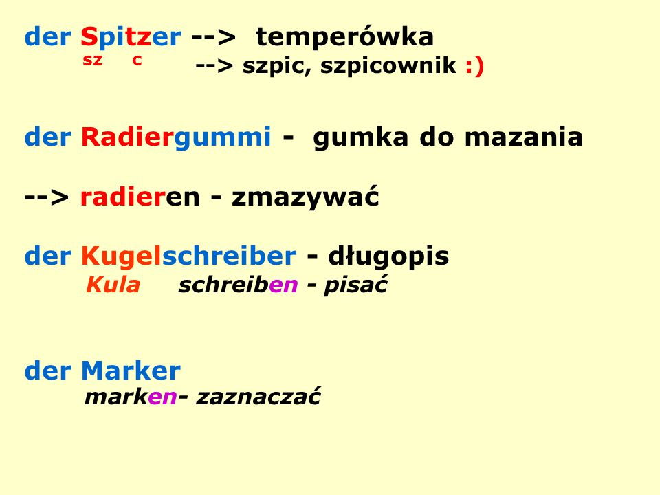 der Spitzer --> temperówka sz c --> szpic, szpicownik :)