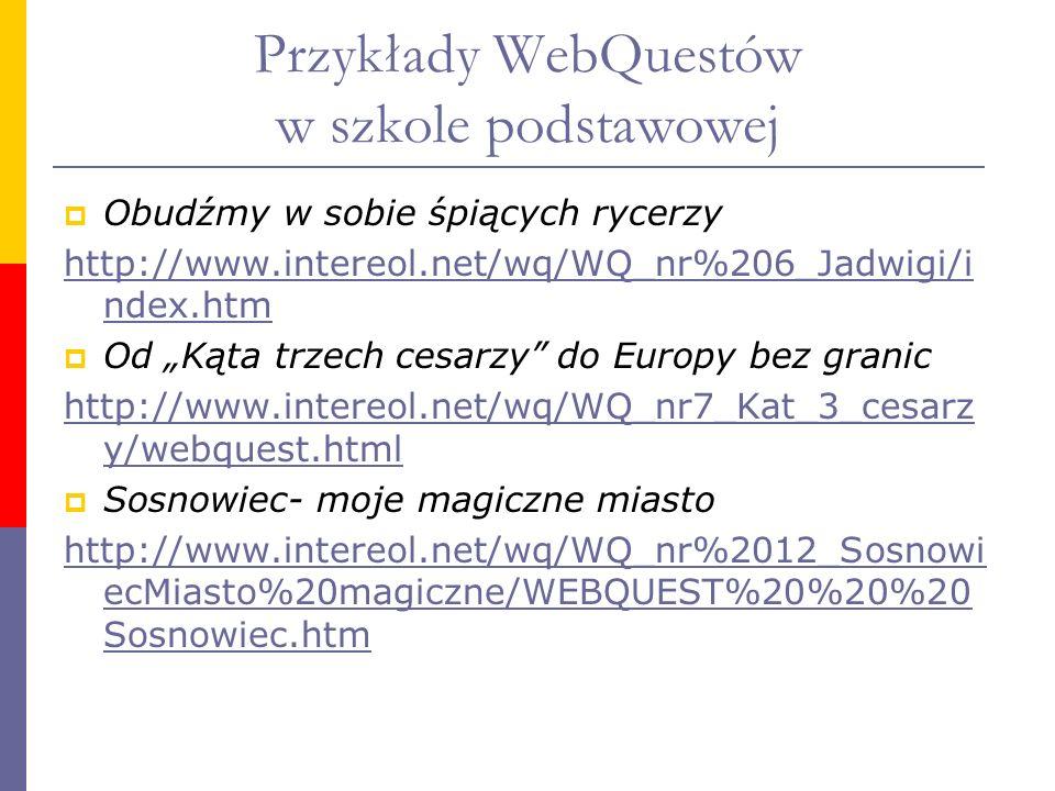 Przykłady WebQuestów w szkole podstawowej