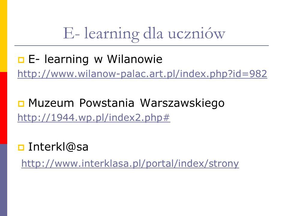 E- learning dla uczniów
