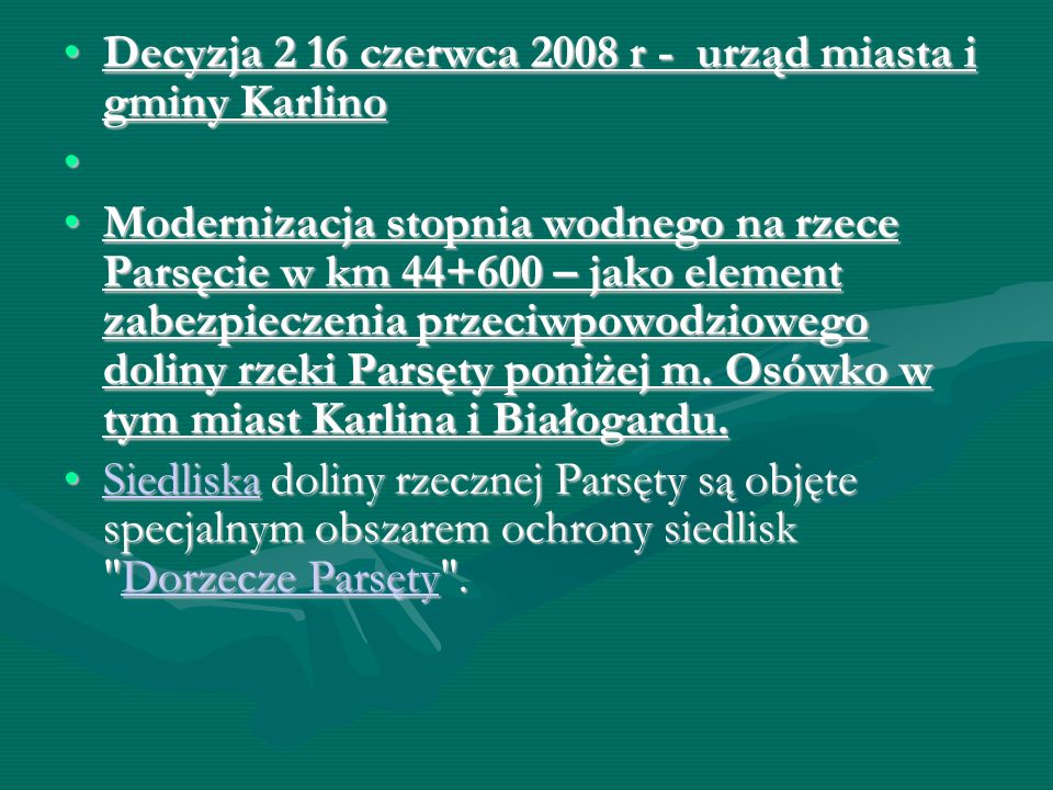 Decyzja 2 16 czerwca 2008 r - urząd miasta i gminy Karlino